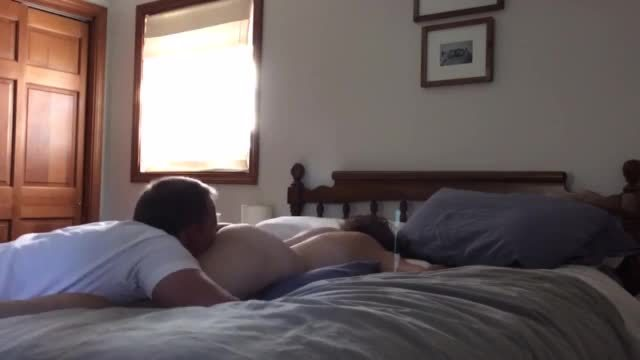 Homemade couple massage and fuck