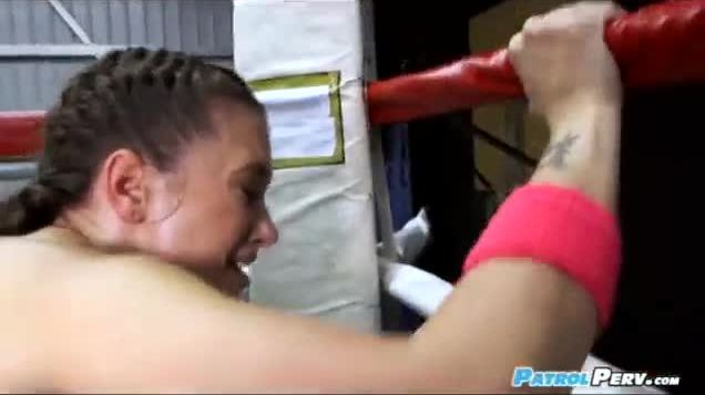Gia paige facial in the boxing ring